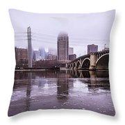 Third Ave. Bridge Throw Pillow