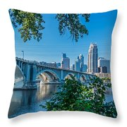 Third Avenue Bridge Over Mississippi River Throw Pillow