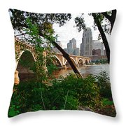 Third Avenue Bridge Throw Pillow