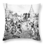 Third Burmese War, 1885 Throw Pillow