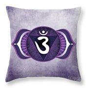 Third Eye Chakra Throw Pillow by David Weingaertner