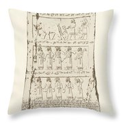 Third Side Of Obelisk, Illustration From Monuments Of Nineveh Throw Pillow