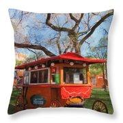 Third Ward - Popcorn Wagon Throw Pillow