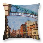 Third Ward Entry Throw Pillow