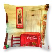 Thirst-quencher Old Coke Machine Throw Pillow