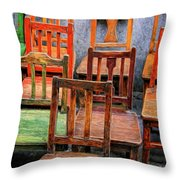 Thirteen Chairs Throw Pillow