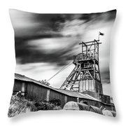 Thirty Seconds At Big Pit Mono Throw Pillow