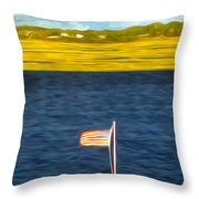 This American Sound Throw Pillow by Laura Brightwood