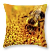 The Bee Is A Little Pig Throw Pillow