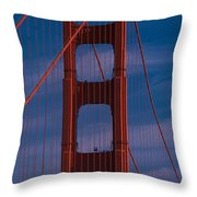This Is A Close Up Of The Golden Gate Throw Pillow