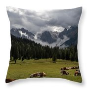 This Is A Cow's World Throw Pillow