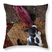 This Is A Fine Treat Indeed  Throw Pillow
