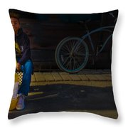 Driven To My Goal Throw Pillow