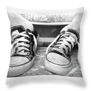 This Is The Heat Of The Moment Throw Pillow