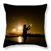 This Is The Last Cast Throw Pillow