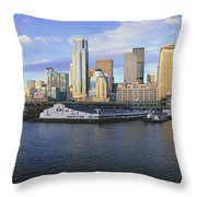 This Is The Skyline And Harbor Throw Pillow