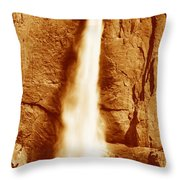 This Is Upper Yosemite Falls Throw Pillow