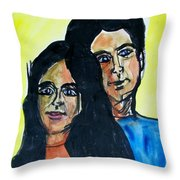 This Is Us--thanks To Mark Knopfler And Emmy Lou Harris Throw Pillow