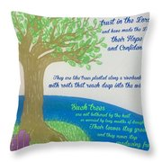 """This Is What The Lord Says: """"cursed Throw Pillow"""