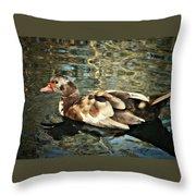 This Little Duck Throw Pillow