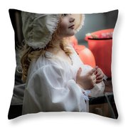 This Little Lady Gives Halloween Candy 5962vg Throw Pillow