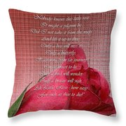 This Little Rose On Digital Linen Throw Pillow