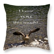 This Much Throw Pillow by Myrna Migala
