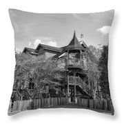 This Old House In Black And White Throw Pillow