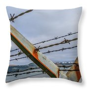 This Side Of The Fence Throw Pillow