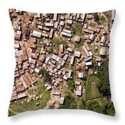 This Small But Dense Town Is Located Throw Pillow