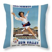 This Summer Sun Valley - Chicago And North Western Line - Retro Travel Poster - Vintage Poster Throw Pillow