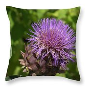 Thistle In Bloom Throw Pillow