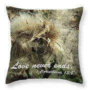 Thistle In Seed Throw Pillow