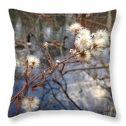 Thistles And Geese  Throw Pillow