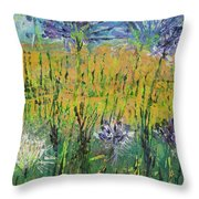 Thistles Too Throw Pillow