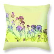 Thistles Under The Sun Throw Pillow