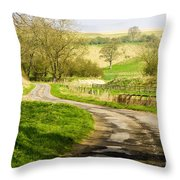 Thixendale Road  North Yorkshire Throw Pillow