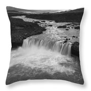 Thofafoss Waterfall Iceland 1538 Throw Pillow