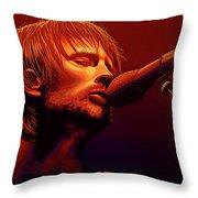 Thom Yorke Of Radiohead Throw Pillow