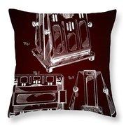 Thomas A. Edison Jr. Toaster Patent 1933 2 Throw Pillow