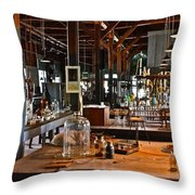 Thomas Edison Lab, #3 Throw Pillow