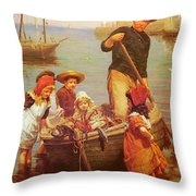 Thomas Edwin Monsters Of The Deep Throw Pillow
