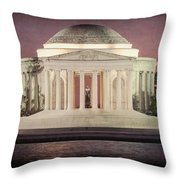 Thomas Jefferson Memorial At Sunset Artwork Throw Pillow