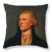 Thomas Jefferson Throw Pillow
