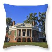 Thomas Jefferson's Poplar Forest Throw Pillow