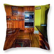 Thomas Kitchen With Old Fashioned Icebox And Refrigerator Throw Pillow