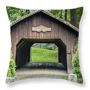 Thomas Malon Covered Bridge Throw Pillow