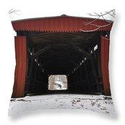 Thomas Mill Road Covered Bridge Throw Pillow