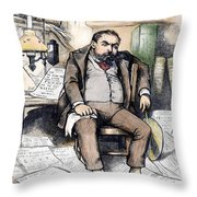 Thomas Nast (1840-1902) Throw Pillow