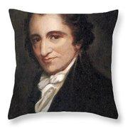 Thomas Paine, American Founding Father Throw Pillow